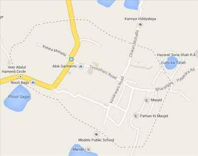 Map of Bharatganj