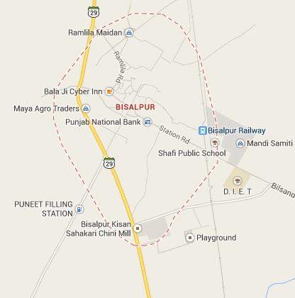 Map of Bisalpur