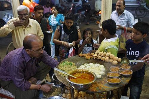 Chaat shop in Varanasi