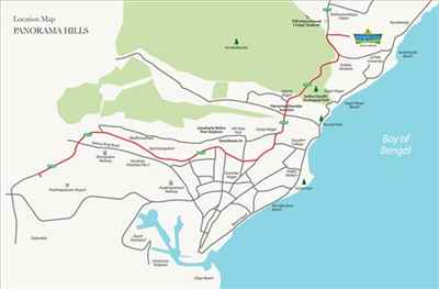 Map of Main Localities of Vizag