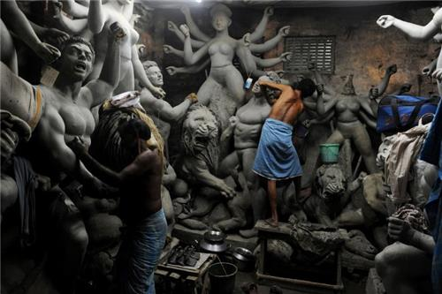 idol making in West Bengal