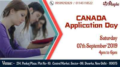 Canada Application Day 7th September 19