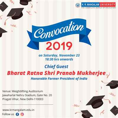 Convocation 2019 K R Mangalam University