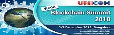 WORLD BLOCKCHAIN SUMMIT 2018 BENGALURU