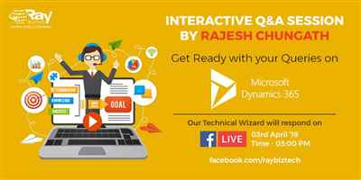 Facebook live Interactive Q&A Session on Microsoft Dynamics 365