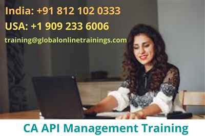 CA API Management Training CA API Gateway Online Training