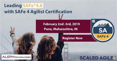 Leading SAFe®4.6 with SAFe 4 Agilist Certification | Aleph Technologies | SA |