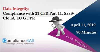 Data Integrity Compliance with 21 CFR Part 11
