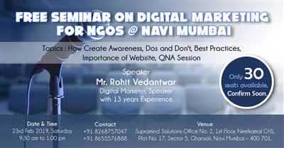 Free Seminar on Digital Marketing for NGOs