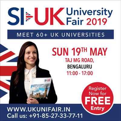 Top UK Universities in Bengaluru on Sunday 19 May 2019