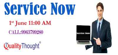 Weekend Service Now Training on June 1st 11 00 AM Quality Thought