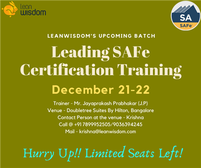 SAFe Agilist Certification in Bangalore