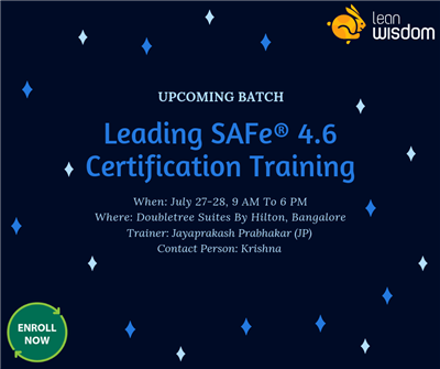 SAFe Agile Certification in Bangalore