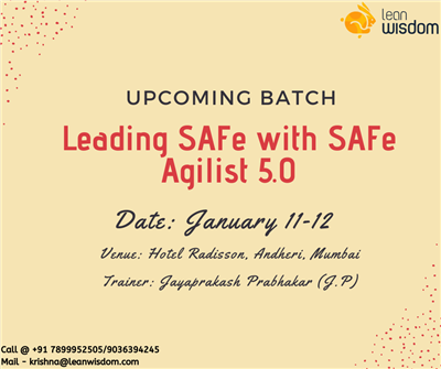SAFe Agilist Certification Training in Mumbai
