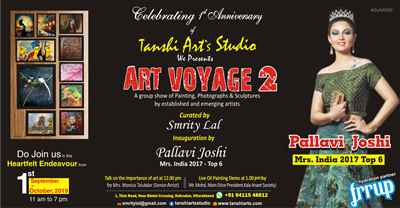 ART Voyage 2 Group Show of Artists Paintings Sculptures Photographs