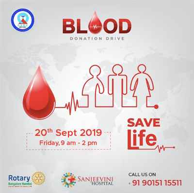 Sanjeevini Multispeciality Hospital Blood Donation Drive