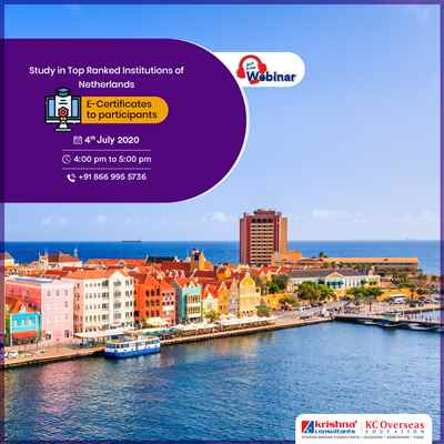 Free Webinar on Study in Top Ranked Institutions of Netherlands for the upcoming intakes
