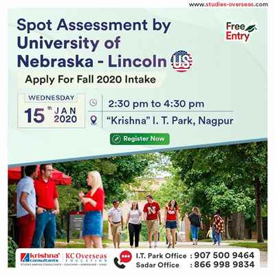 Meet Apply to University of Nebraska Lincoln USA on 15th Jan 2020 at KC Nagpur