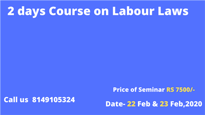 2 days Course on Labour Laws
