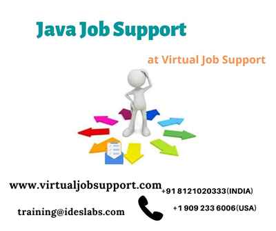 Java Job Support Java Online Technical Support from India
