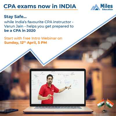 Great News US CPA exams now in India Miles Education