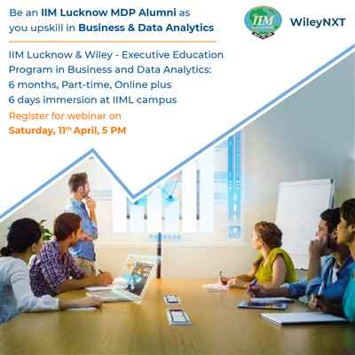 Be an IIM Lucknow MDP Alumni as you upskill in Business Data Analytics