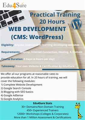 Learn WordPress ONLINE And Create Your Own Website