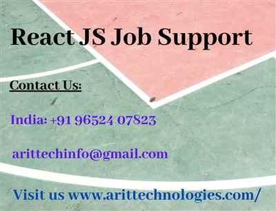 React JS Job Support React JS Online Job Support ARIT