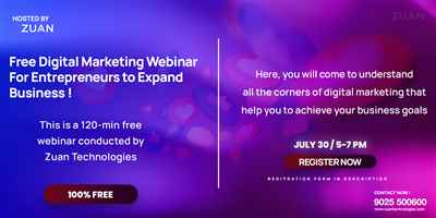 Free Digital Marketing Webinar For Entrepreneurs to Expand Business