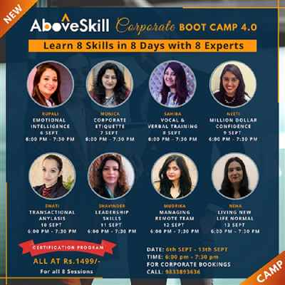 Learn 8 skills in 8 days with 8 experts
