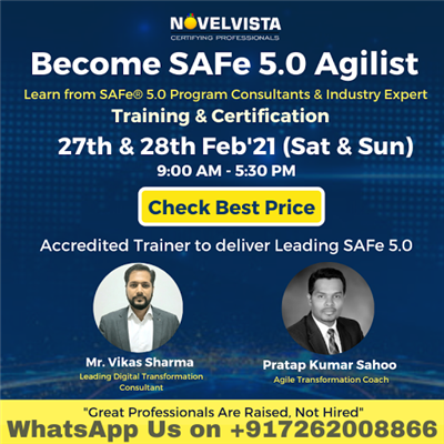 Join our Leading SAFe 5 0 SAFe Agilist Training and Certification Course