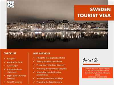 First rate Sweden Tourist Visa Services Offers Available
