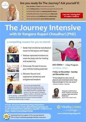 Journey Intensive Healing Seminar Mumbai with Dr Rangana Rupavi Choudhuri