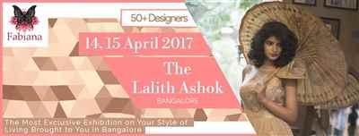 Come visit Fabiana 2017 Summer Edition Collection at The Lalit Ashok Bangalore at 14 15 April 2017