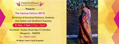 OnlyPaithani Saree Festival Bangalore On 31 Aug 01 Sep 2018