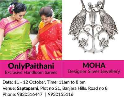 Paithani Sarees Designer Silver Jewelry Exhibition