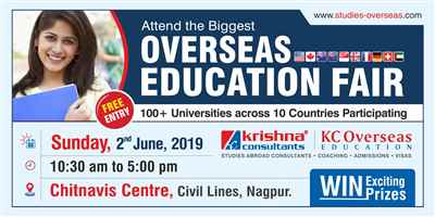 Overseas Education Fair in Nagpur Sunday 2nd June 2019 Free Entry