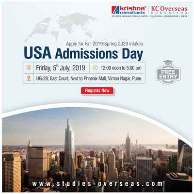 USA Admissions Day at Krishna Consultants Pune 5th July 2019