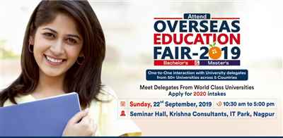 Overseas Education Fair in Nagpur 22nd Sept 2019 Krishna Consultants