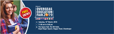 Overseas Education Fair in Chandrapur 16th March 2019