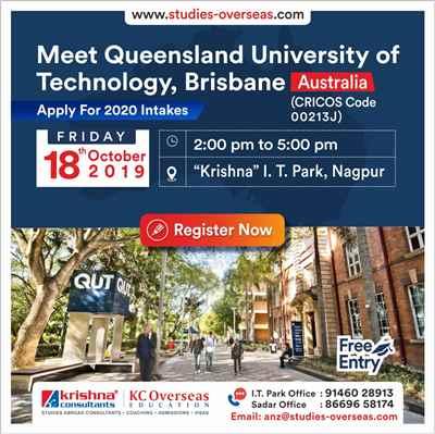 Meet Apply to Queensland University Australia on 18th Oct 2019 Krishna Consultants