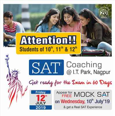 SAT Coaching in Nagpur New Batch Starting from Friday 12th July 2019