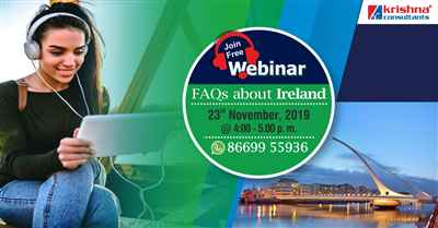 Want to Study in Ireland Attend Free Webinar on Higher Education in Ireland 23rd Nov 19
