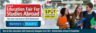 Overseas Education Fair in Raipur Sunday 26th May 2019 Free Entry