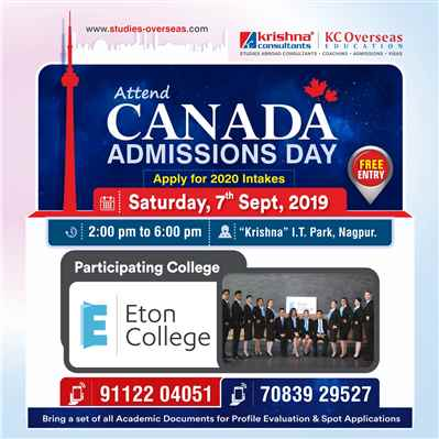 Meet Apply to Eton College Canada 7th September 2019 Krishna Consultants
