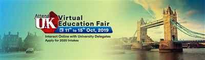 UK Virtual Education Fair Webinar 11th to 15th Oct 19