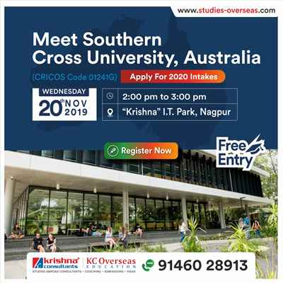 Meet Apply to Southern Cross University Australia on 20th Nov 19 KC Nagpur