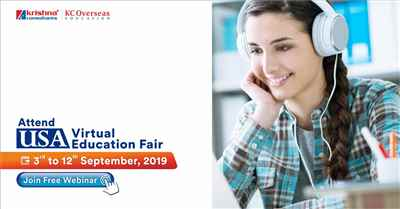 USA Virtual Education Fair from 3rd to 12th September 2019 – Free Entry