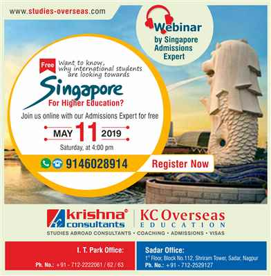 Webinar on Higher Education in Singapore Saturday 11th May 2019