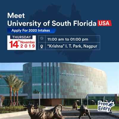 Meet Apply to University of South Florida USA at KC Nagpur – 14th Nov'19